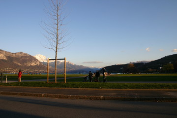 Annecy Mountains Winter Promenade