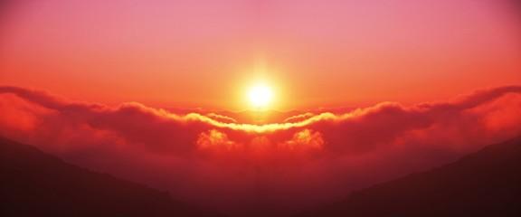 Photo sur Plexiglas Rouge sunset