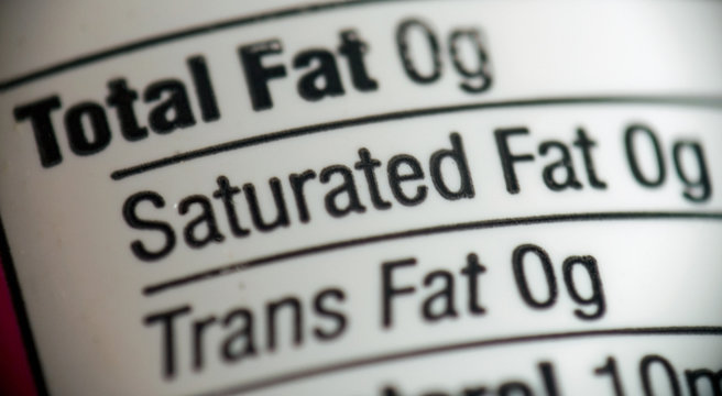 fat free - food labeling
