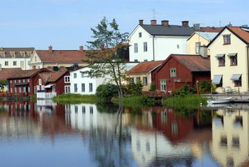 colourful scandinavian houses