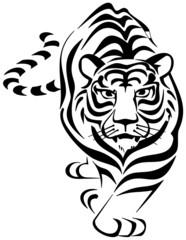 tigre plantilla