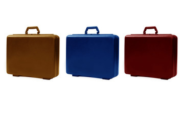 Colorful briefcases