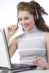 attractive call center girl