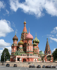 Fotobehang Moskou st basil's cathedral on the red square, moscow, russia