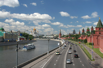 general view at the moscow center, russia.