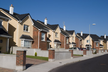 suburban homes, subdivision
