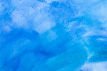 abstract watercolor background - blue