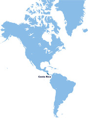 carte du Costa Rica