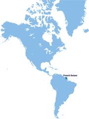 carte de Guyane Française