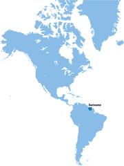 carte du Suriname
