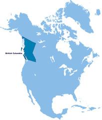 carte de Colombie-Britannique