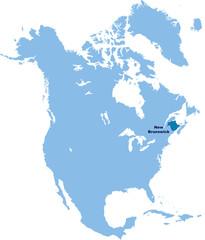 carte Nouvelle-Brunswick