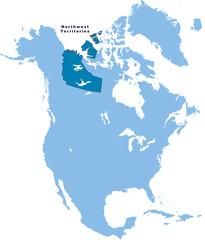 carte des Territoires de Nord-Ouest Canada