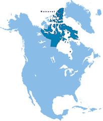 carte du Nunavut