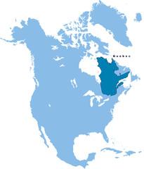 carte du Quebec