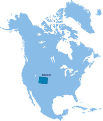 carte du Colorado