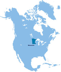 carte du Minnesota