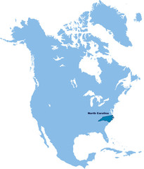 carte de Caroline du Nord