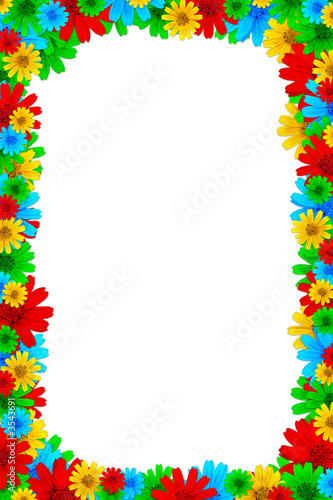 Colorful floral design elements for page borders Stock photo and