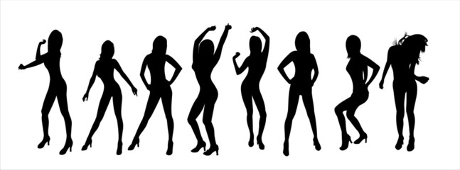 Silhouettes of dancing girls3
