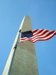 National Monument and a National Flag in Washington DC