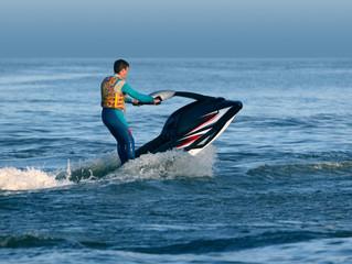 Garden Poster Water Motor sports man stand on wave runner