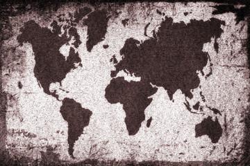 Old Rusty World map. World map