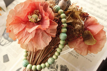 Bracelet de grosses perles