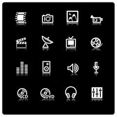 white media icons