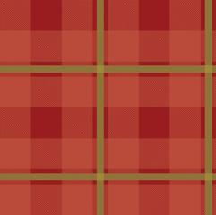 Illustrated tartan red