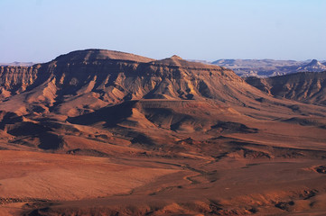 кind of mountains in desert