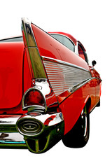 Wall Mural - The aft end of a vintage 50's automobile