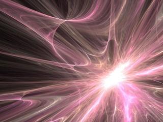 Space explosion - fractal light