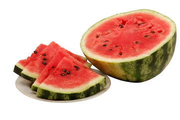 Fresh and juicy watermelon isolated over white background