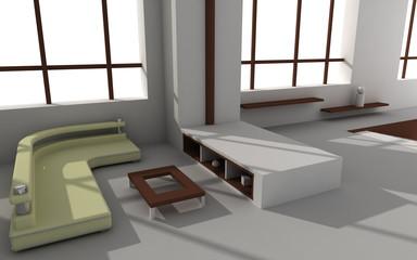 3d rendered modern interior