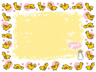yellow duckies frame for GIRL