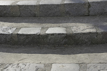 A cement walkway in Paris
