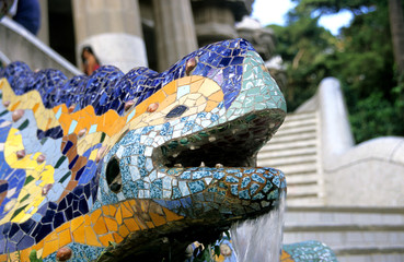 The Lizard fountain in Park Guell