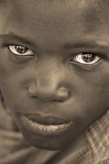 African boy (b&w)