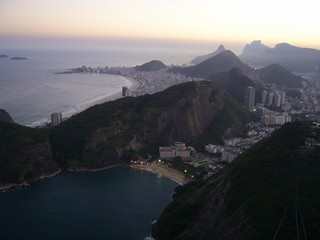 Rio de Janeiro - abendliches Panorama vom Zuckerhut