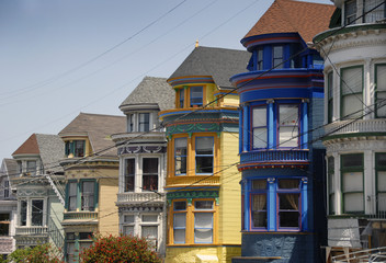 Painted Victorians in Haight Ashbury