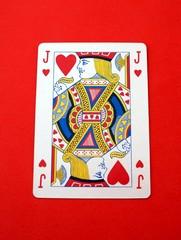 Jack O knave of hearts. playing card. Gambling. Game