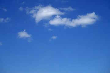 Blue sky with white clouds 23j