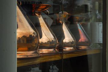 Reflection in urns, Australia