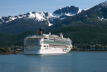 Cruise Ship In Juneau, Alaska