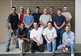 Technical college class photo