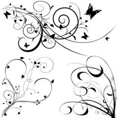 Floral elements A - popular floral segments