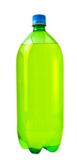 A close up on a soda bottle isolated on white