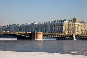 The Winter Palace and The Palace Bridge, Saint-Petersburg