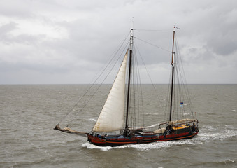 Sailing boat on the Waddenzee